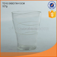 Hot sale high quality free samples glass blown vases with decal