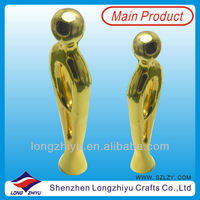 2014 high quality cheap metal sport figurines