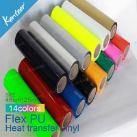 High-Quality PU sticky Heat Transfer Vinyl For DIY T Shirts-14 colors