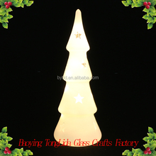 White glass led Christmas tree with star decoration