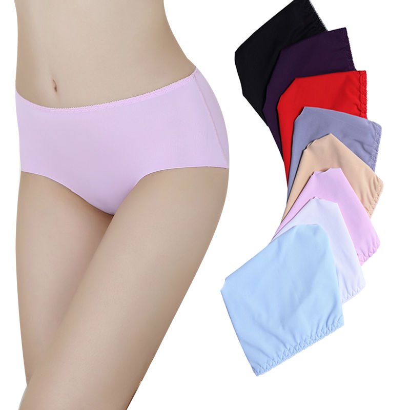 Simple Pure color underwear Panty Girls Fashion Seamless Underwear young girl in panty girl white panties