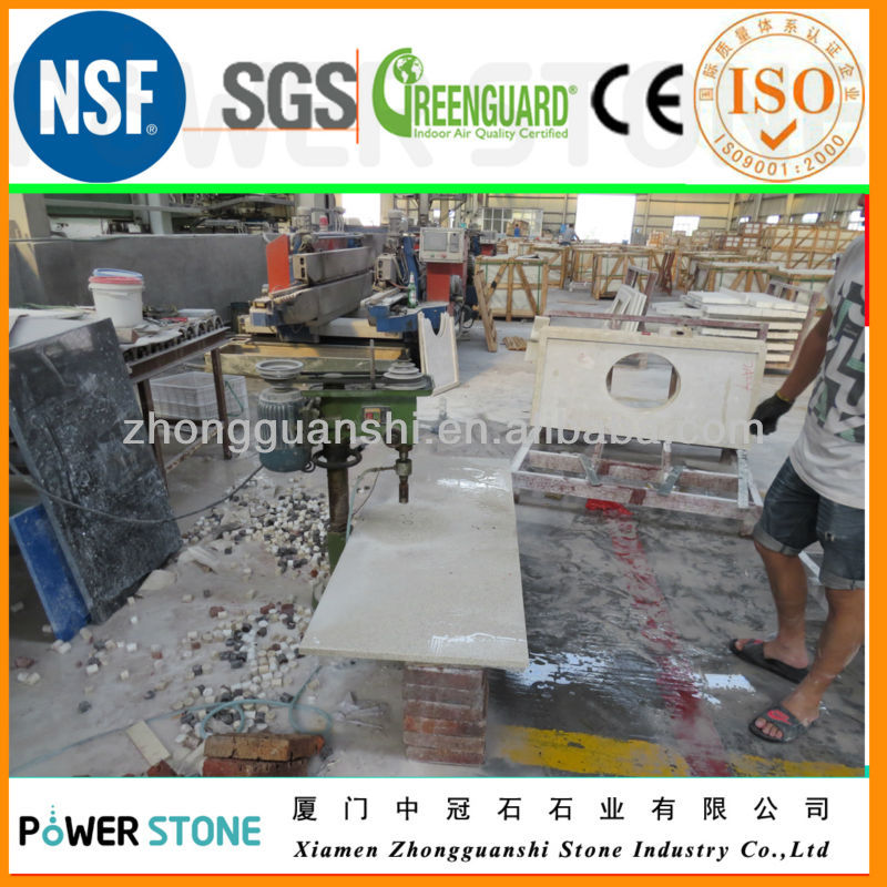 Fine Grain Polyester Resin Granite For Countertop in Many Colors