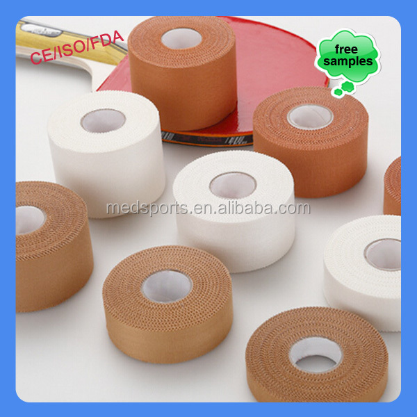 China Factory Medical Sports Therapy latex free rayon Rigid strapping Tapes