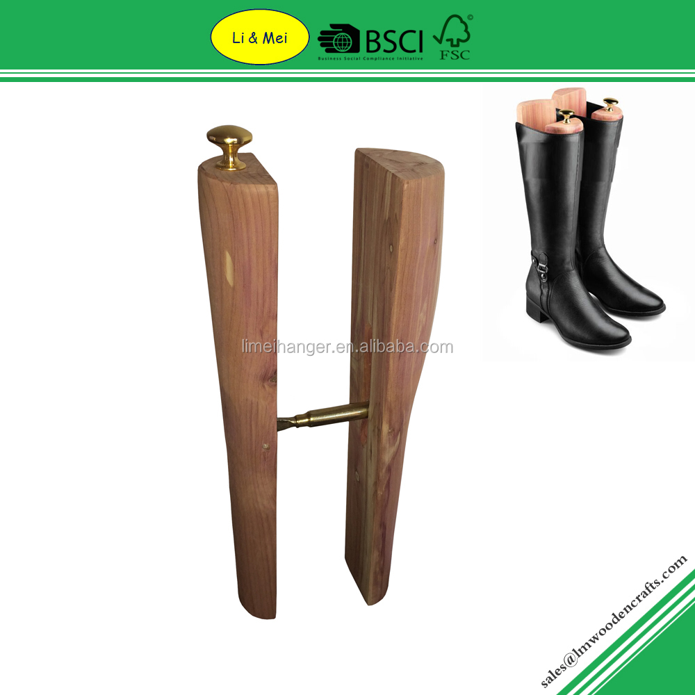 LMC034 Adjustable Cedar Shoe Trees Wholesale for Women High Heel Boots