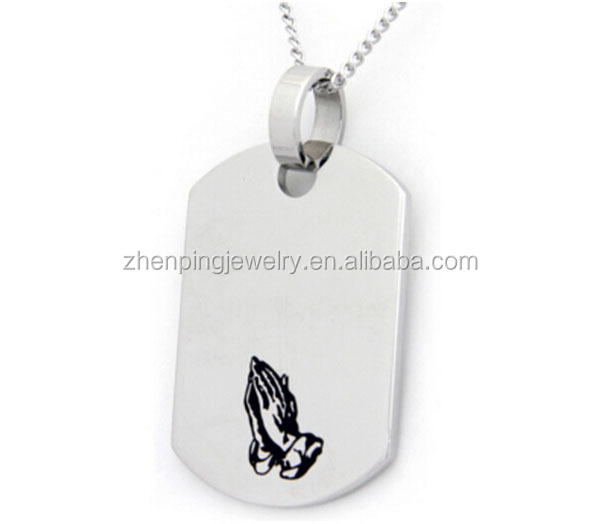 Engraved stainless steel jewelry tags