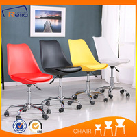Factory sale revolving white plastic chair