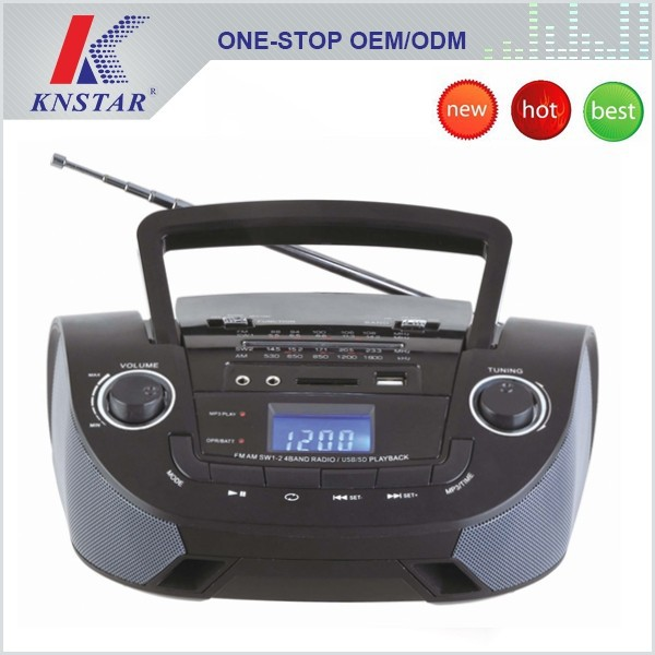 Portable built-in speaker digital lcd display radio with usb sd solt FP-201U