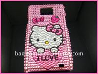 Bling Hellokitty Hard Case For Samsung i9100 Galaxy S2 Pink BS44