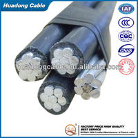 Low Voltage Twisted ABC Cable Three Phase Cable with One Neutral Bare Conductor abc cable