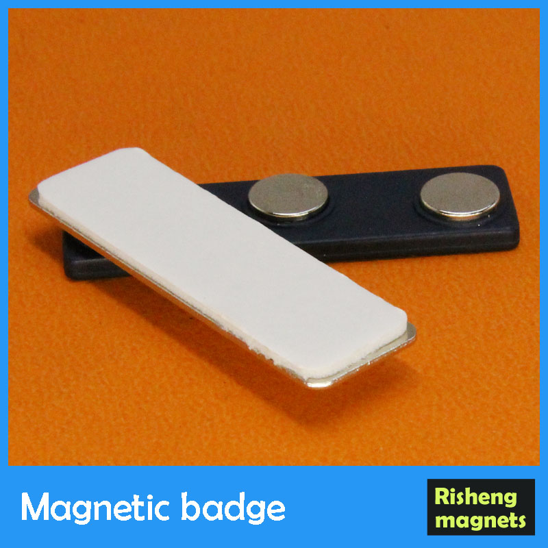 magnetic name badge magnet with plastic cover