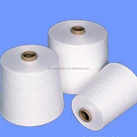 100% Pure Raw White Polyester Spun Yarn Count 20s/1