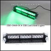 12 pcs green leds Strobe Dash Light/Emergency Police Car LED visor lightTBF-3868-3C4