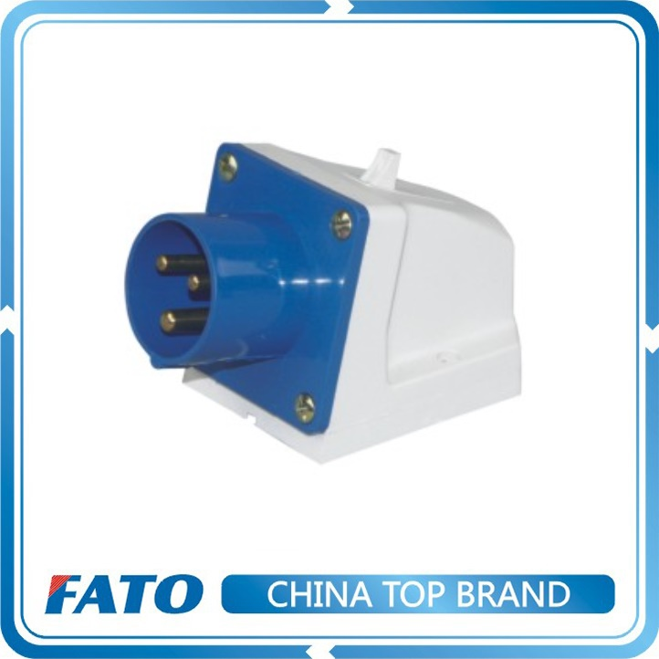 FATO IP44 16a 220v Hollow Brass 3 pin Nylon Male and Female Extension Industrial Electric Wall Power Plug and Socket