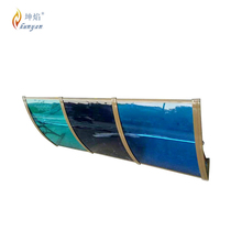 High temperature polycarbonate cover awnings for cars