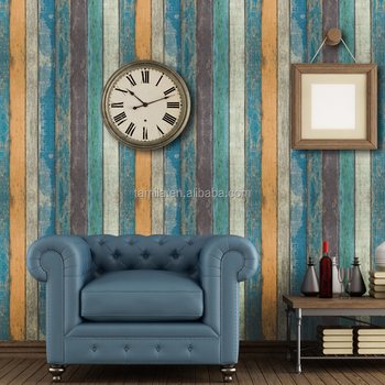 Noble simple Gorgeous Vintage Floral wallcovering, Stripped wallpapers