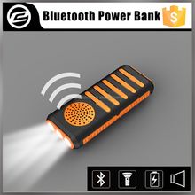 New product 4in1multi-function universal bluetooth mini power bank speaker with led flashlight torch