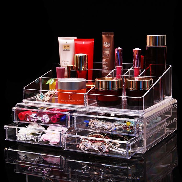 High quality manufacturer 2016 hot sale acrylic make up orgnizer
