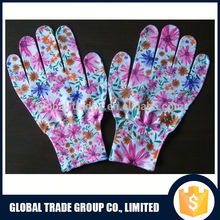 "Priting Thin Women Gloves 8.5"" & Polyester Fabric & Nylon 551564-1"
