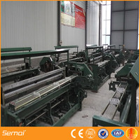 high quaulity shuttleless fiber glass insect screen wire plastering mesh weaving machine with selvage