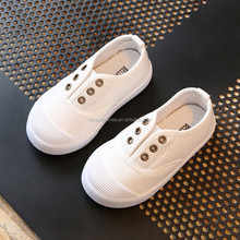 Size 21-30 Fashion Spring Autumn Kid Canvas Sneaker For Girls Boys Children Sneakers White Canvas shoes Wholesale