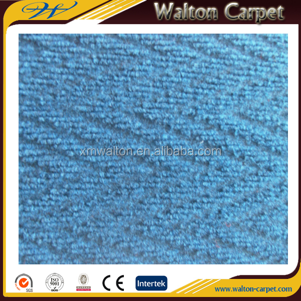 Needle punched zig zag cheap durable blue office carpet