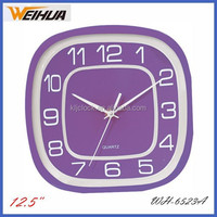 Colorful purple quartz wall clock