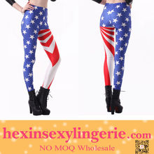 2014 new style female american flag girls sexy legging tights