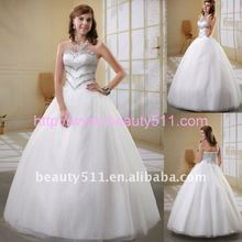 new wedding gowns factory bridal dress Astergarden Strapless crystal Strapless Ball Gown Wedding Dress AS039
