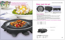 electric grill and hotpot 3 in 1 with ceramic coating