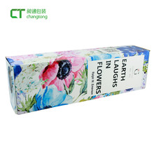 Flat delivery beautiful flower packaging corrugated box for gifts