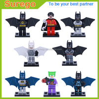 DC Super Hero Advenger 8pcs Batman, Joker, Robin, White Arctic Mini Action Figure Building Blocks Toy