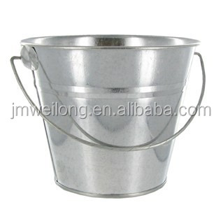 5L hot selling good quality silver metal pail
