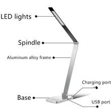 Led Rechargeable USB Port Driving Power DV12V 8W Dimmable Desk Lamp