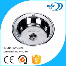 Russian round bowl deep stainless steel kitchen sink