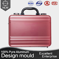 HLW fashion travel cosmetic bag durable cheap aluminum cases