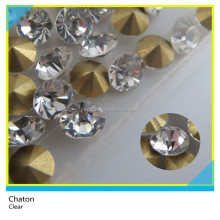 Wholesale Bling Bling SS20 Clear Pointback Chaton Hotfix Rhinestone