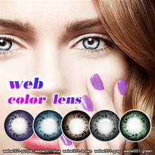 yearly disposable dolly pink contact lens lens/wholesale eyes colored lenses