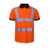 high quality wholesale dry fit two tone breathable hi vis work polo shirt