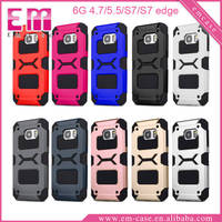 Shockproof Case Armor Phone Case For Galaxy S7/S7 Edge TPU PC Hybrid Case