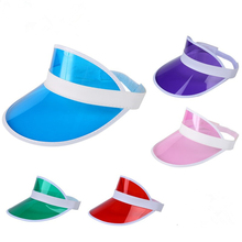 Promotion Cheap Customized Plastic Sun Visor/Cap/Hat,PVC plastic sun visor for UV protection