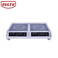 Waterproof two burner induction electric cooktop, induction cookers double stove cooktop