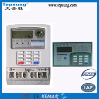 Have Optical Port Smart Metering Function Split Type Prepaid Keyboard Watt-hour Meter Energy Meter with MCU and CIU