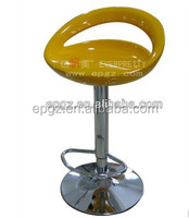 SGS certificates used commercial colorful rotate ABS Plastic Bar stool suppliers
