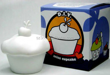 CUSTOM MAKE DIY BLANK WHITE MISS CUPCAKE VINYL TOY FIGURE