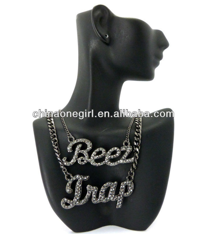 Fashion NEW ICED OUT CELEBRITY STYLE BEEZ IN THE TRAP FASHION NECKLACE