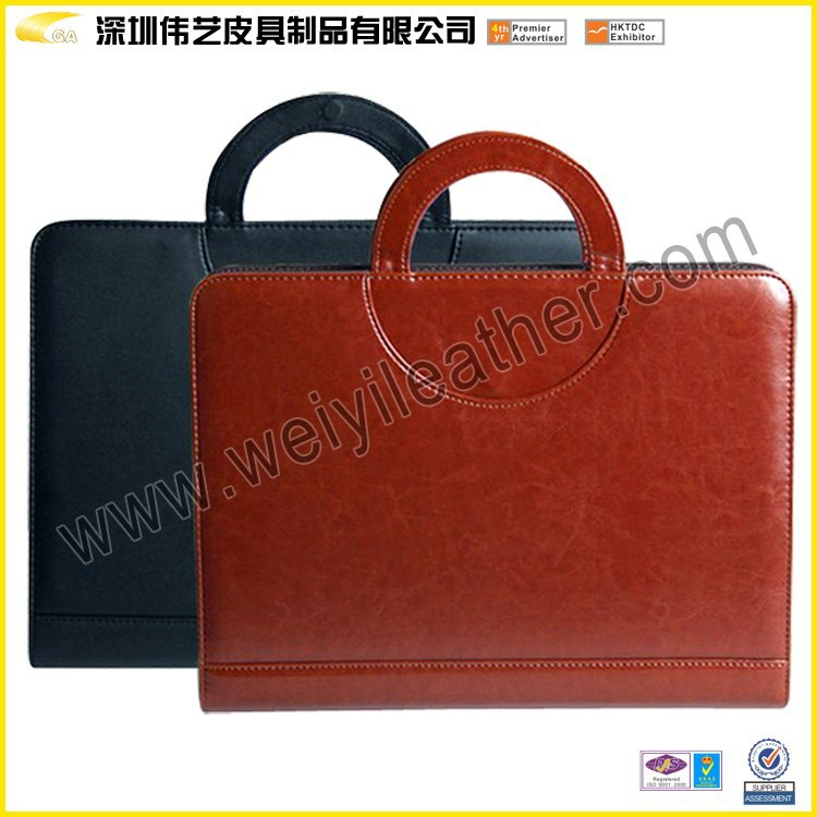 Weiyi Factory Custom Size Logo Sales Directly High Quality Folder Bulk Cheap Price Portfolio In Briefcases