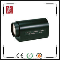 "10-200mm motorized zoom and focus lens with 1/3"" image cctv lens"