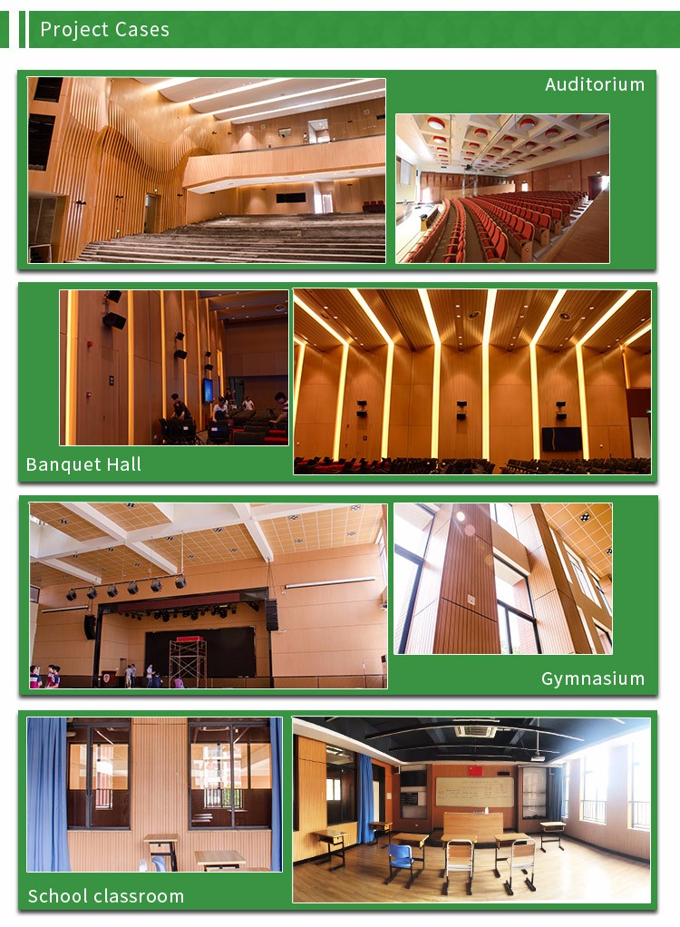 Acoustic sound wall panels for meeting room
