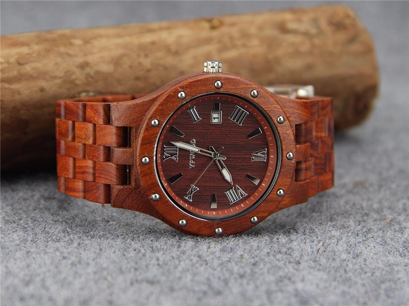 High Quality Japan MOVT With Real Wood Wood Watch For Man