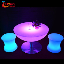 Party illuminated LED light up cocktail bar table